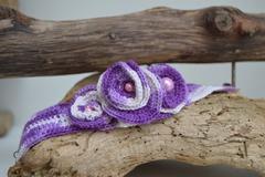 Vente au détail: Bracelet Trois Fleurs Violettes