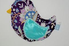 Vente au détail: Bouillotte sèche - Oiseau violet fleuri