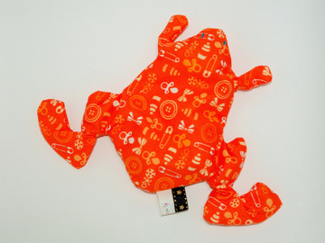 Sale retail: Bouillotte sèche - Grenouille orange baby