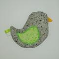 Vente au détail: Bouillotte sèche - Oiseau argenté à fleurs