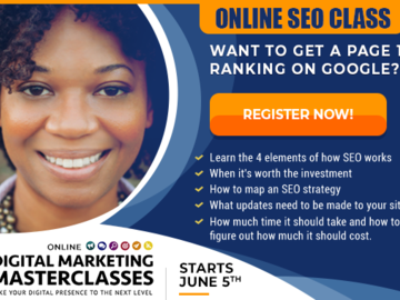Workshop: Search Engine Optimization - Online Digital Marketing Masterclass