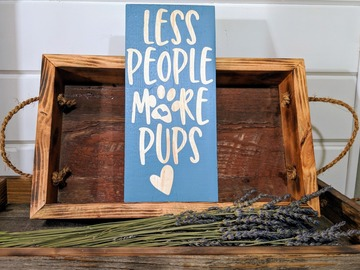 Selling: Rustic dog sign