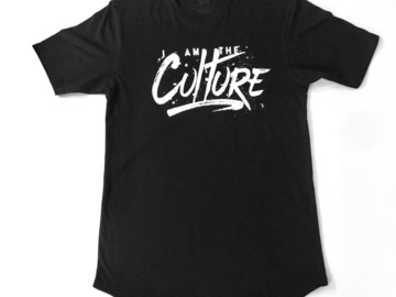 Selling with online payment: I Am The Culture - Black Swoop tee