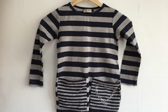 Selling with online payment: Next stripy dress top, age 5-6 Yrs