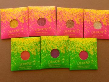 Venta: Colourpop sombras glitter y pigmento prensadas