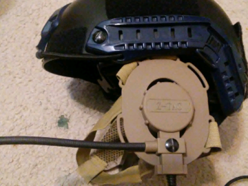 Selling: Helmet w z tactical ptt, solar panel, goggles FREE SHIP(US)