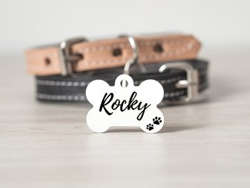 Selling: Personalized Dog Bone ID Tag - Double sided - 1.25""