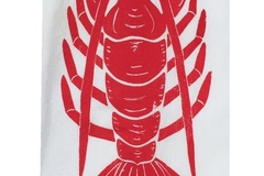 Selling: Lobster Kitchen Towel Set of 2 - red