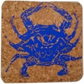 Selling: Blue Crab Coastal Cork Coaster Set