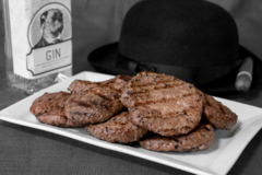 Online Listing: Prime GIN-ister Burgers - 10 lbs.