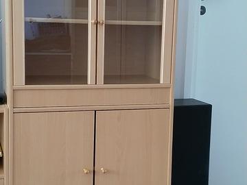 Annetaan: Giving glass door bookcase for free