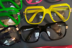 Buy Now: LOT OF 60..BIG FRAME CLEAR LENS.GLASSES SUMMER TIME BRIGHT COLORS