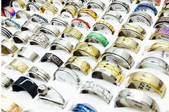 Buy Now: Assorted unisex gold and silver rings 100 pcs.