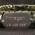 Selling: Custom Paracord Dog Collar with Personalized Dog Tag