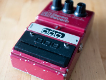 Renting out: DOD FX45 Stereo Analog Reverb RARE Pedal Rental
