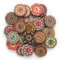 Buy Now: Vintage colorful gear style buttons 1000 pcs.