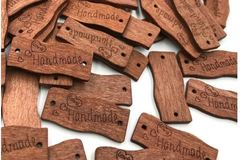 Buy Now: Handmade 30mm oblique wood buttons 1000 pcs.