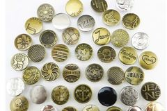 Buy Now: Assorted metal jeans buttons 20mm 600 pcs.