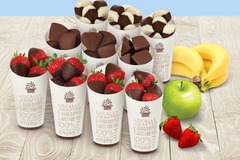 Request To Book & Pay In-Person (hourly/per party package pricing): Chocolate Dipped Fruit Cup Party Bundle by Edible Arrangements