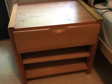 Myydään: Nightstand with drawer