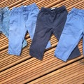 Selling with online payment: 4 Benetton trousers/jeans, age 6-9 months