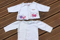 Selling with online payment: Cardie and Top, age 6-9 months