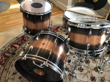 Selling with online payment: Q Drums Custom Copper 4 Piece
