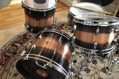 SOLD!: SOLD! Q Drums Custom Copper 4 Piece $2300