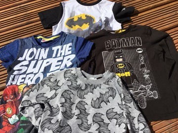 Selling with online payment: Batman Top bundle, age 7-8