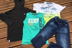 Selling with online payment: Jeans and Tops bundle, age 8