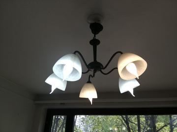 Myydään: Ceiling Lamp with light bulbs