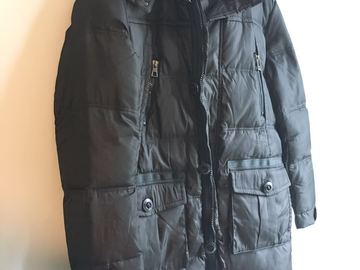 Myydään: brand new leather coat size 180/XXL
