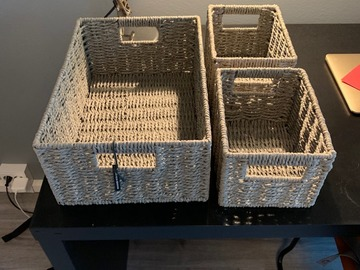 Myydään: Storage boxes