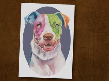 Selling: American Bull Terrier Print