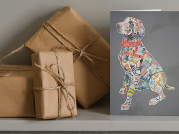 Selling: Tattooed Weimaraner Notecard Set (4)