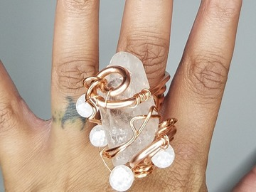Selling with online payment: Healing Crystal Rings