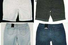 Buy Now: 31 NEW ANA cuffed denim jean shorts stretch petite sizes
