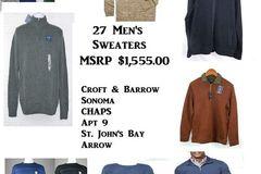 Buy Now: 27 NEW Men's Sweaters MSRP $1,555