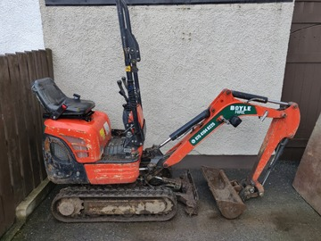 Daily Equipment Rental: Micro digger 0.8 ton doorway Access