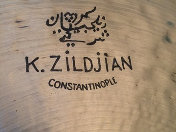 "Selling with online payment or cash/check/money order/cash app/Venmo: 22"" K Zildjian Constantinople Medium Ride Cymbal (CC)"