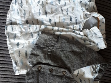 Selling with online payment: Shirt & waistcoat, age 6-9 Mths