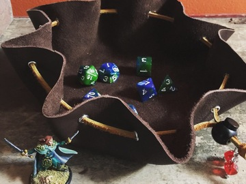 Contract services (per piece): Custom leather combination dice bags/trays