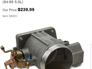 Selling without online payment: 94-95 BBK THROTTLE BODY