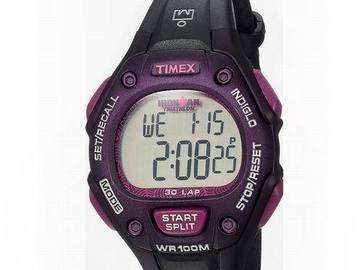 Liquidation Lot: 100 x Timex Ironman Triathlon Black/Purple Digital Sport Watch