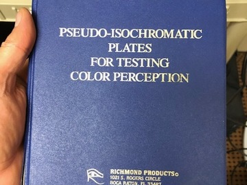 Selling with online payment: Pseudo-isochromatic Color testing