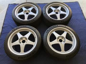 Selling: Desmond EVO II Wheels: 18x9.5 5x120 +45 offset + Michelin Tires