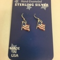 Buy Now: 50 prs-- Genuine Sterling Silver Flag Earrings  $1.99 pair