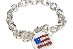 Buy Now: 100 pcs  Rhinestone Flag Bracelets  $1.25 pcs!
