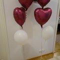 Ilmoitus: Sydän -ilmapallot täytettyinä