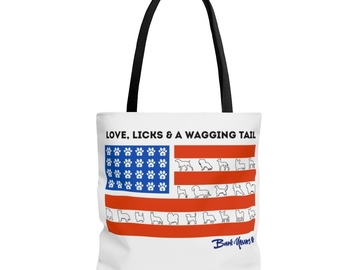 Selling: 4th of July tote bag - BarkYours for a Cause